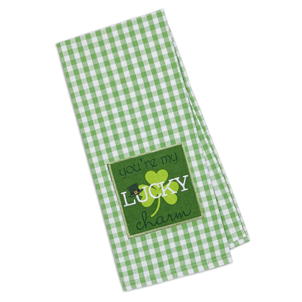 Wholesale - Lucky Charm Embellished Dishtowel - DII Design Imports