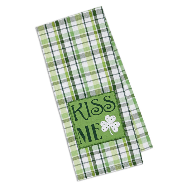Wholesale - Kiss Me Embellished Dishtowel - DII Design Imports