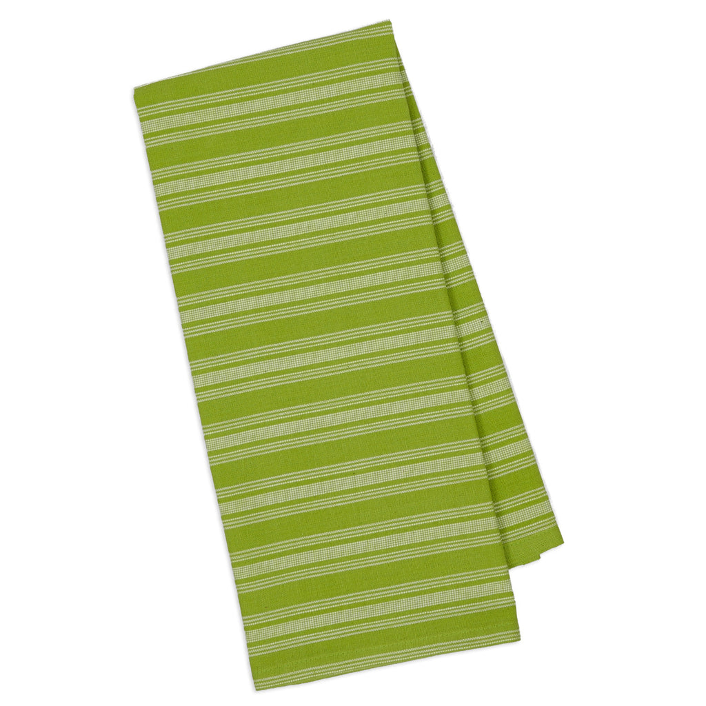 Wholesale Lime Pop Savory Stripe Dishtowel - DII Design Imports