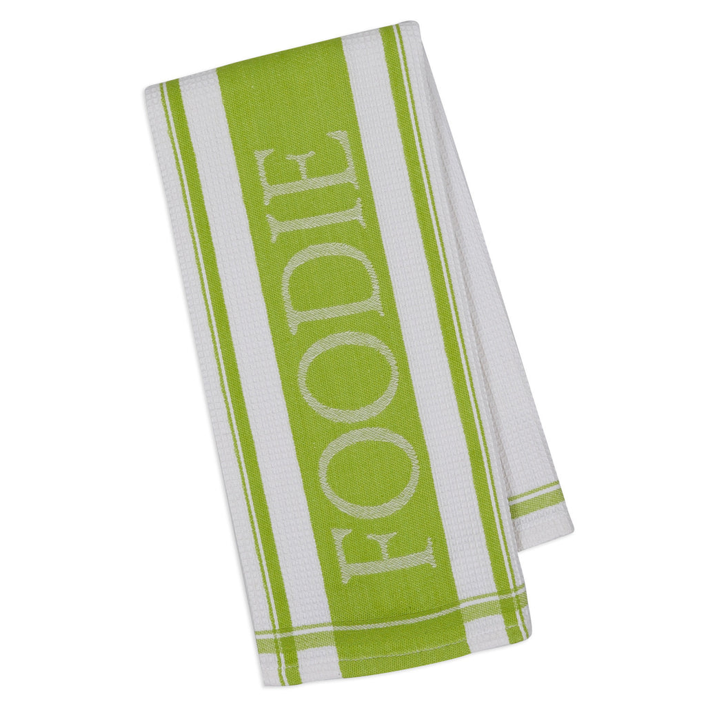Lime Pop Foodie Jacquard Dishtowel - DII Design Imports