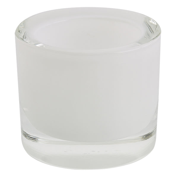Wholesale - White Glass Candle Holder - DII Design Imports - 1
