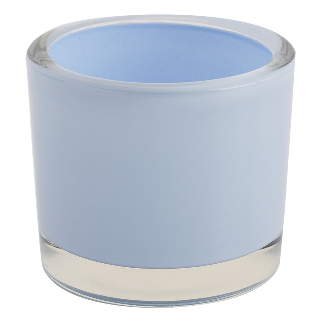 Baby Blue Glass Candle Holder - DII Design Imports