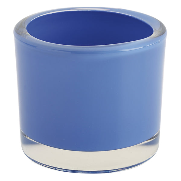 Periwinkle Glass Candle Holder - DII Design Imports