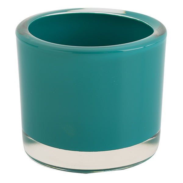 Teal Glass Candle Holder - DII Design Imports
