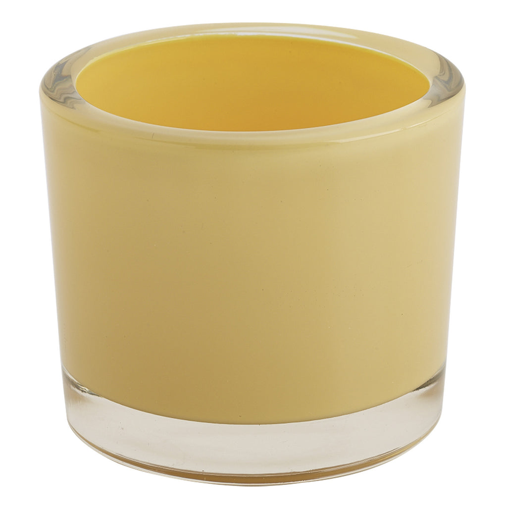 Yellow Glass Candle Holder - DII Design Imports