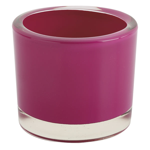 Hot Pink Glass Candle Holder - DII Design Imports