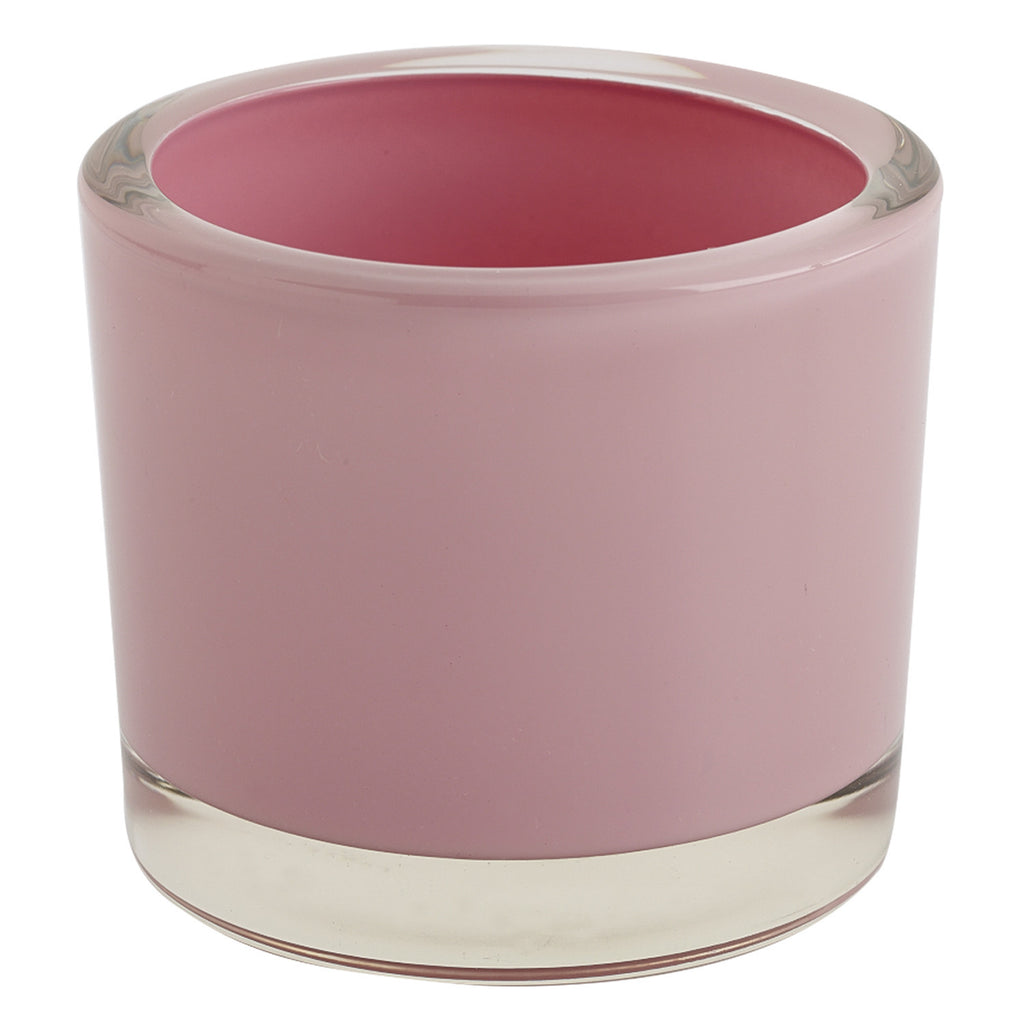 Pink Glass Candle Holder - DII Design Imports