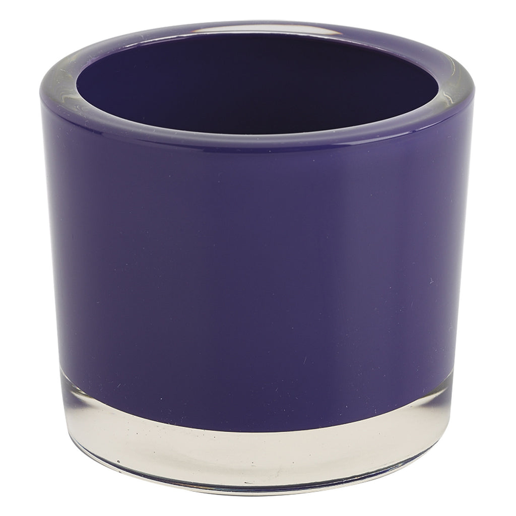 Purple Glass Candle Holder - DII Design Imports