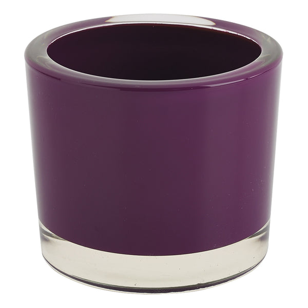 Plum Glass Candle Holder - DII Design Imports