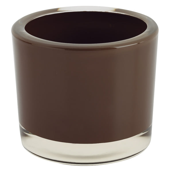 Chocolate Glass Candle Holder - DII Design Imports