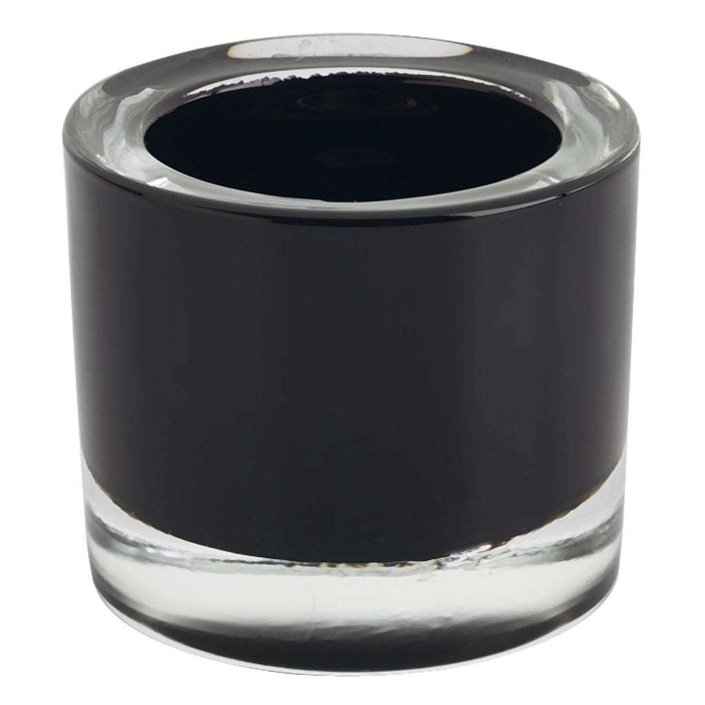 Black Glass Candle Holder - DII Design Imports