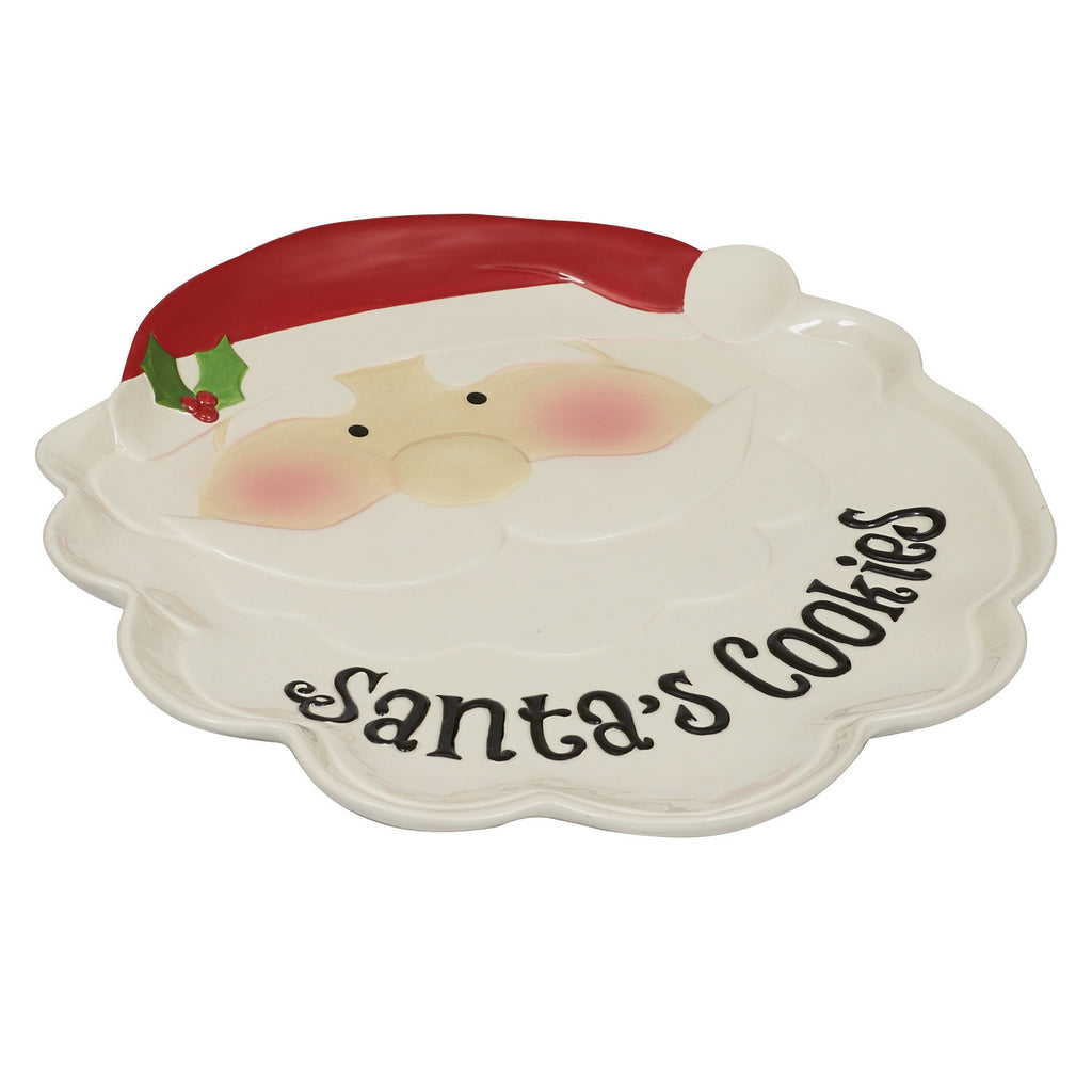 """Santa's Cookies"" Plate - DII Design Imports"