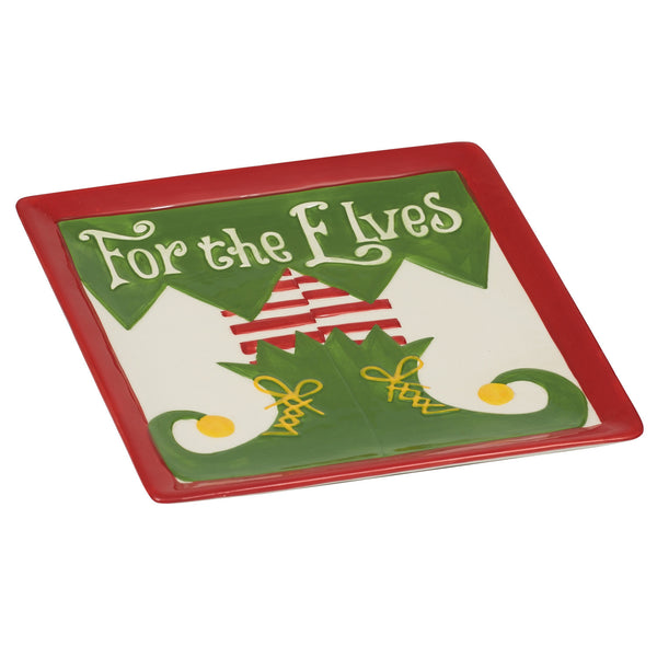 "Wholesale - ""For the Elves"" Plate - DII Design Imports - 1"