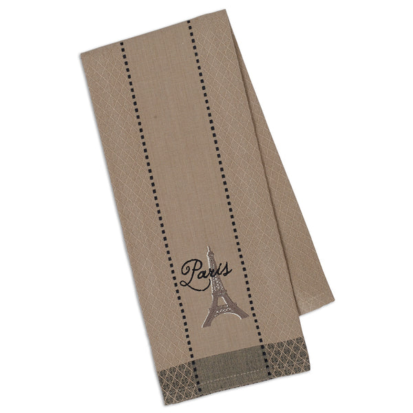 Wholesale - Paris Eiffel Tower Embroidered Dishtowel - DII Design Imports - 1
