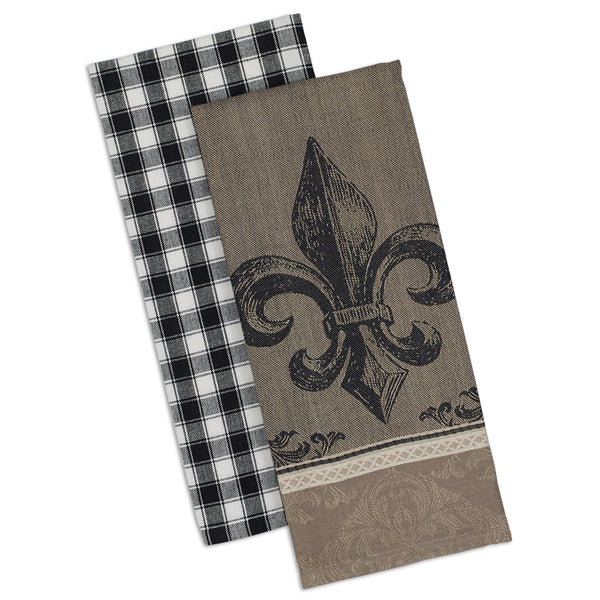 Fleur De Lis Dishtowel - Set of 2 - DII Design Imports