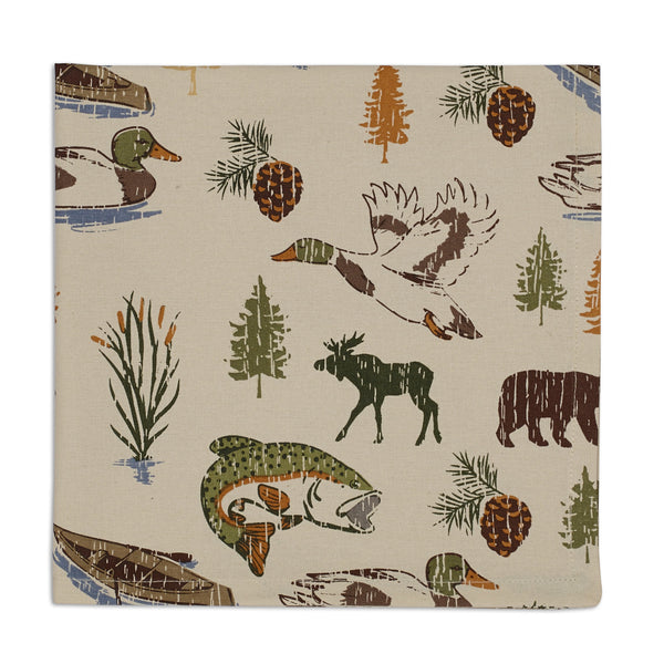 Wholesale - Lake Wood Print Napkin - DII Design Imports - 1