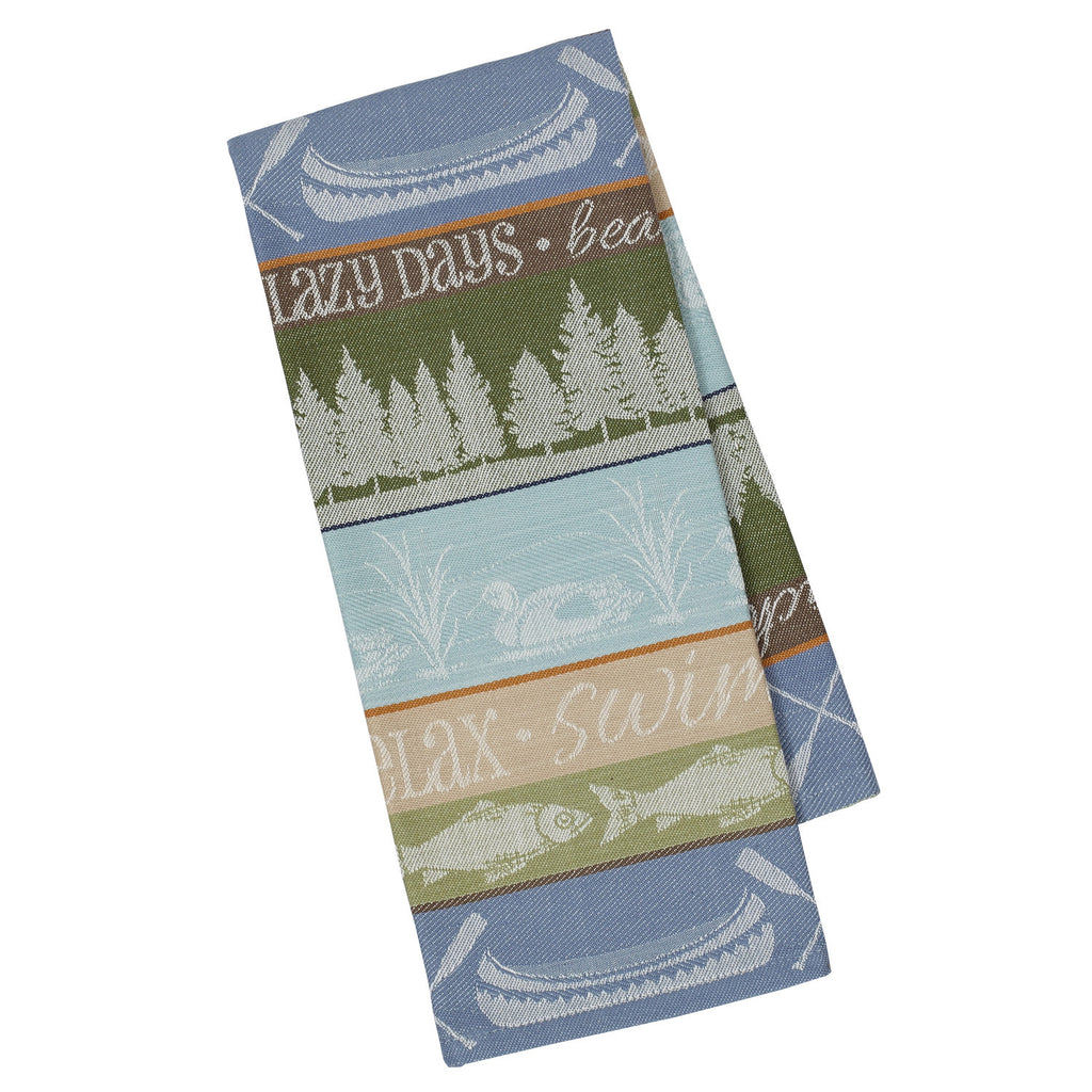 Wholesale Lake House Stripe Jacquard Dishtowel - DII Design Imports