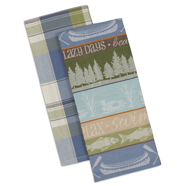 Wholesale - Lake House Dishtowel 0 Set of 2 - DII Design Imports - 1