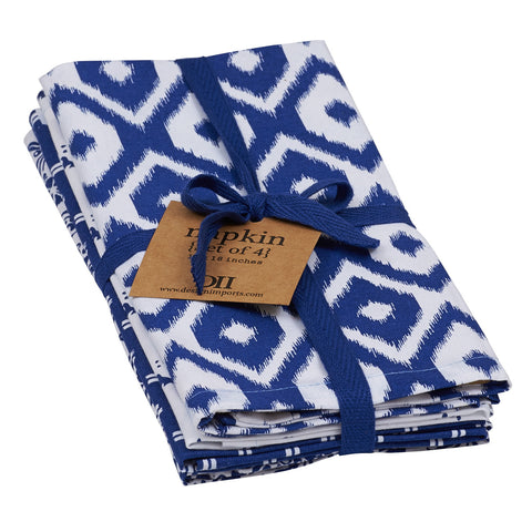 Wholesale - Indigo Prints Napkin - Set of 4 - DII Design Imports - 1