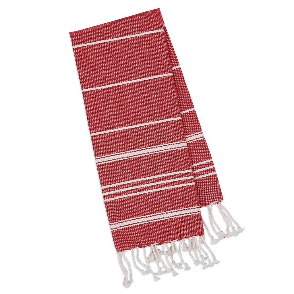 Wholesale - Ribbon Red Fouta Kitchen Towel - DII Design Imports - 1