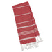 Ribbon Red Fouta Kitchen Towel - DII Design Imports