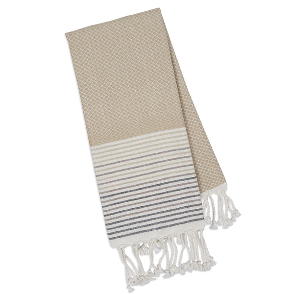 Wholesale - Taupe Diamond Fouta Kitchen Towel - DII Design Imports - 1
