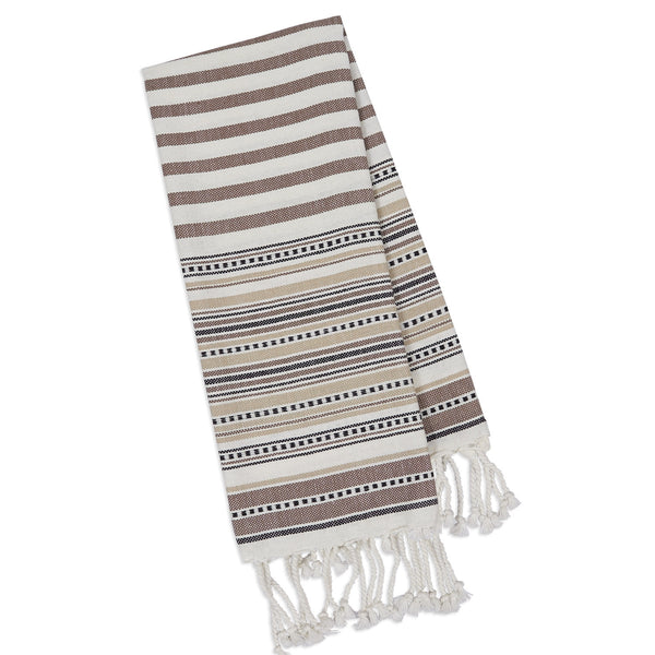 Wholesale - Natural Dobby Border Fouta Kitchen Towel - DII Design Imports - 1