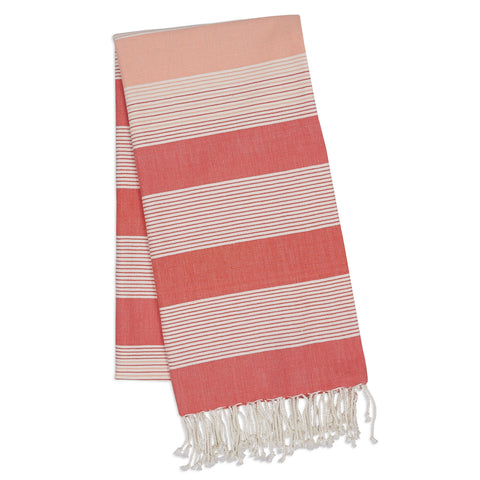 Wholesale - Coral Stripe Fouta Towel/Throw - DII Design Imports - 1