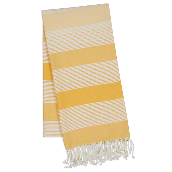 Yellow Stripe Fouta Towel/Throw - DII Design Imports