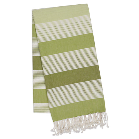 Wholesale - Green Stripe Fouta Towel/Throw - DII Design Imports - 1