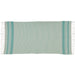 Wholesale - Aqua Mint Stripe Fouta Towel/Throw - DII Design Imports - 2