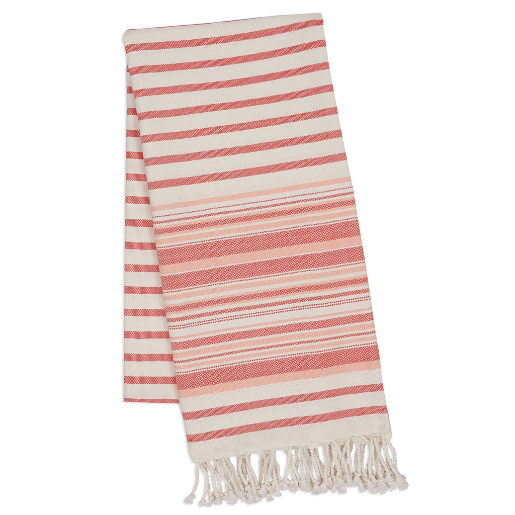 Wholesale - Red Gelato Stripe Fouta Towel/Throw - DII Design Imports - 1