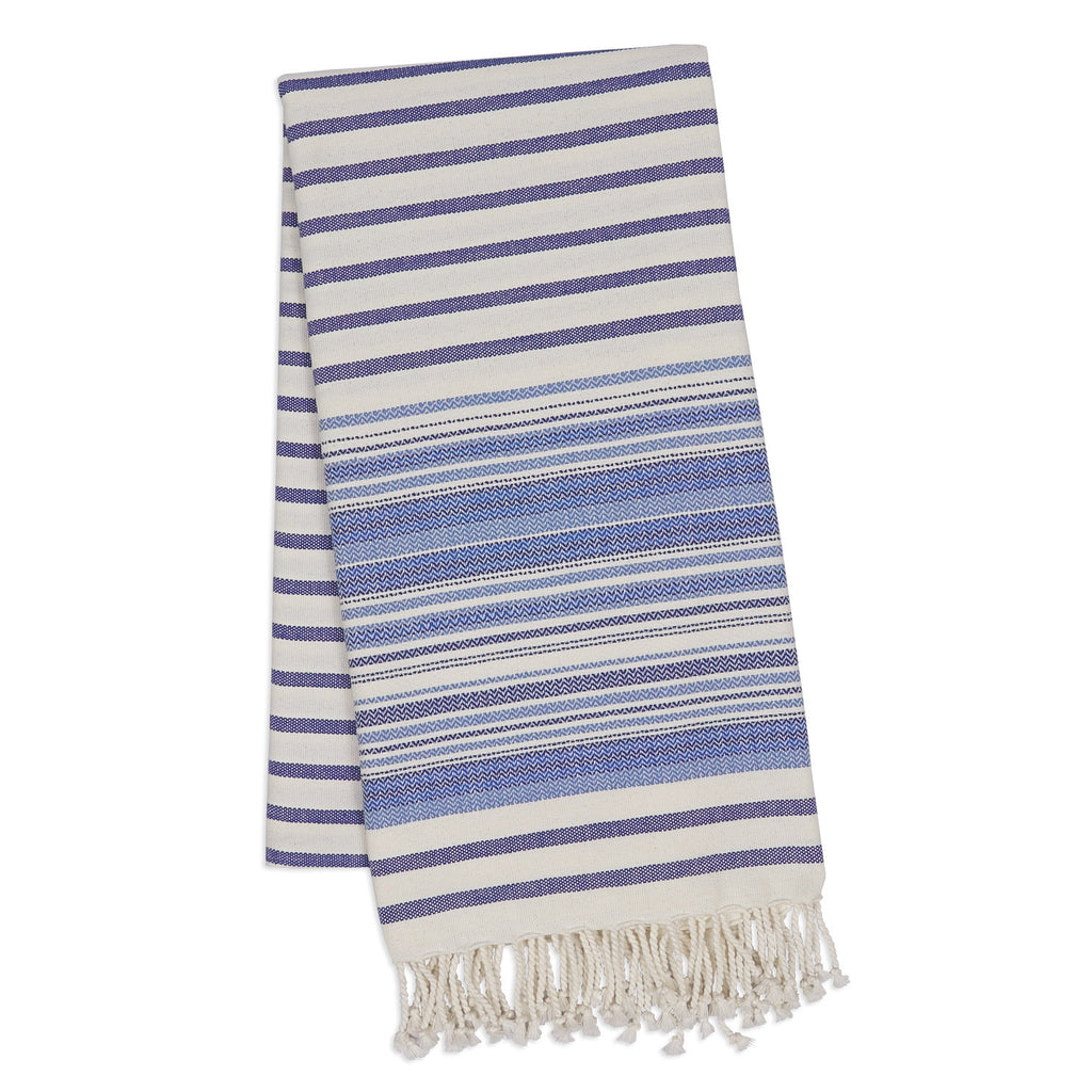 Wholesale - Indigo Stripe Fouta Towel/Throw - DII Design Imports - 1
