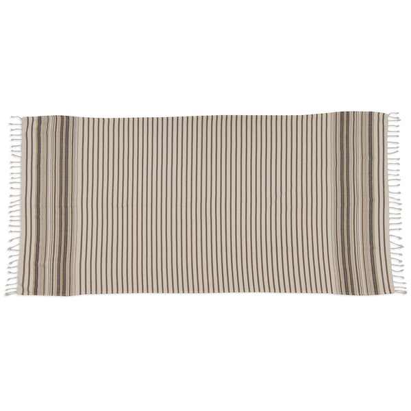 Wholesale - French Taupe Stripe Fouta Towel/Throw - DII Design Imports - 2