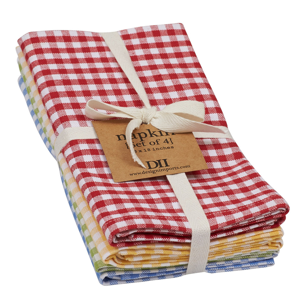 Wholesale Farmhouse Check Napkin - Set of 4 - DII Design Imports