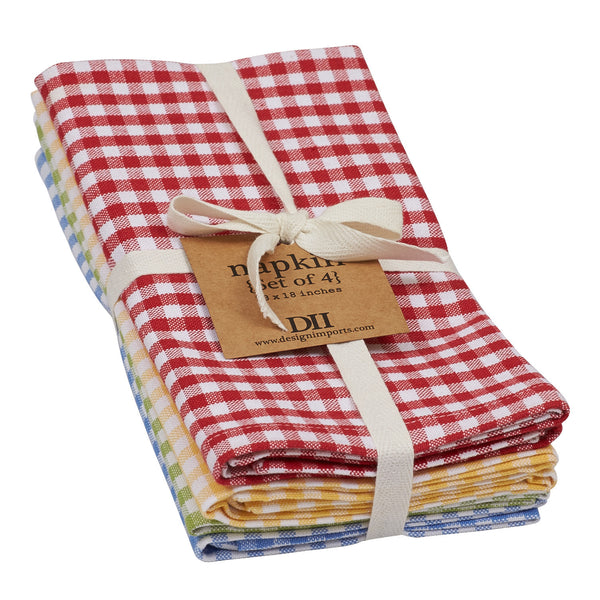 Wholesale - Farmhouse Check Napkin - Set of 4 - DII Design Imports - 1