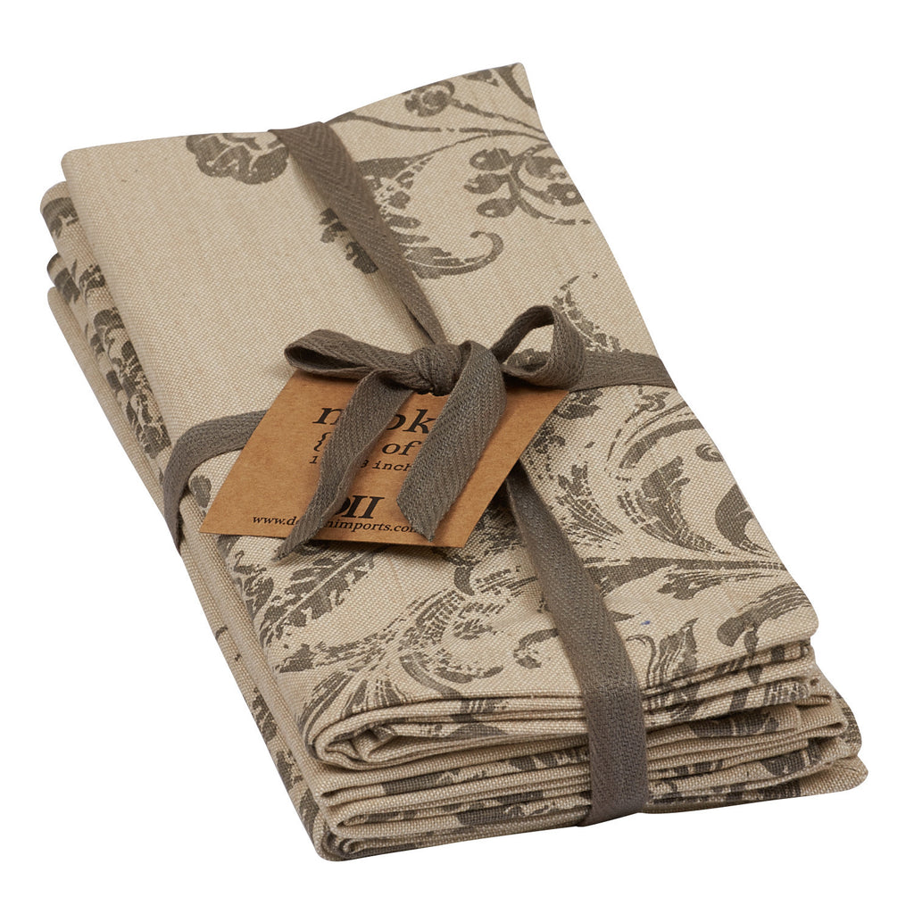 Wholesale French Scroll Printed Napkin - Set of 4 - DII Design Imports