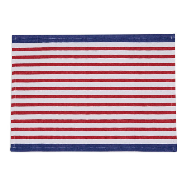 Wholesale Candy Apple Nauti Stripe Placemat - DII Design Imports