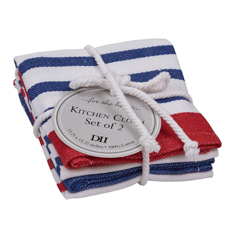 Wholesale - Nauti Stripe Dishcloth - Set of 2 - DII Design Imports - 1