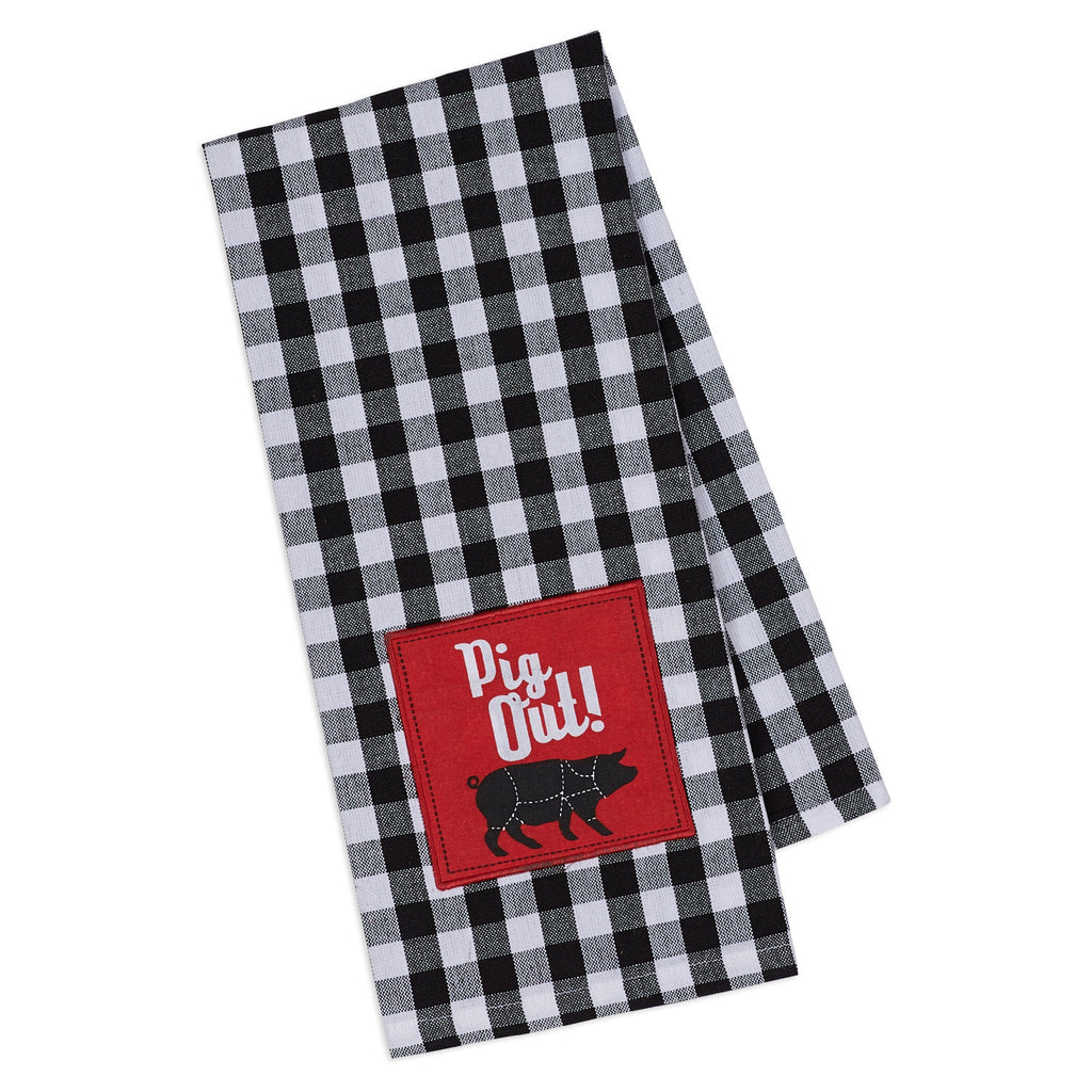 PIG OUT! Embellished Dishtowel - DII Design Imports