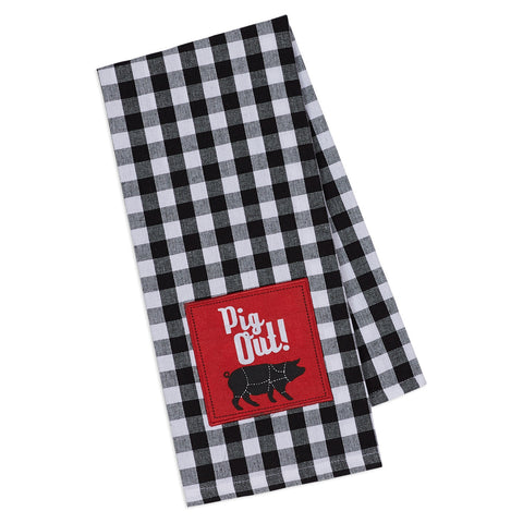 Wholesale - PIG OUT! Embellished Dishtowel - DII Design Imports - 1