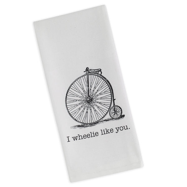 I Wheelie Like You Printed Dishtowel - DII Design Imports
