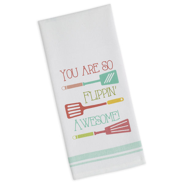 Flippin' Awesome Printed Dishtowel - DII Design Imports