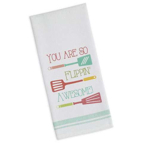 Wholesale - Flippin' Awesome Printed Dishtowel - DII Design Imports