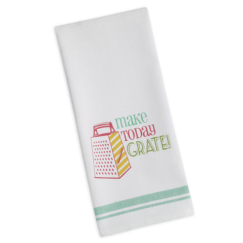 Wholesale - Make today Grate Printed Dishtowel - DII Design Imports