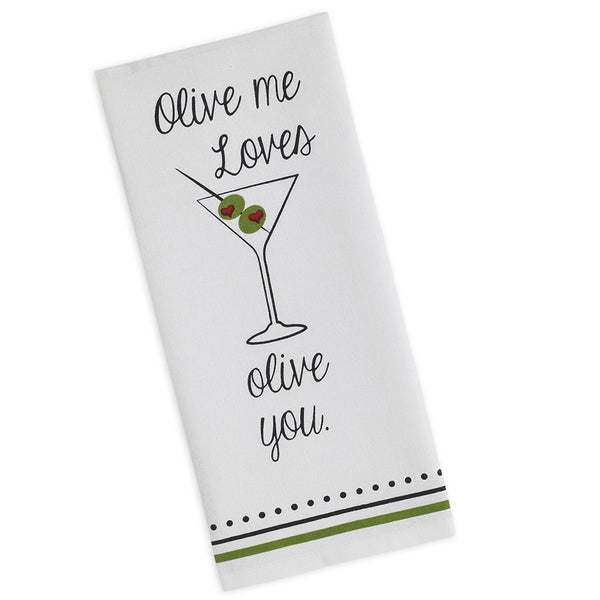 Wholesale - Olive You Printed Dishtowel - DII Design Imports
