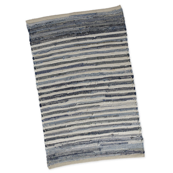Wholesale Denim Stripe Chindi Rug - DII Design Imports