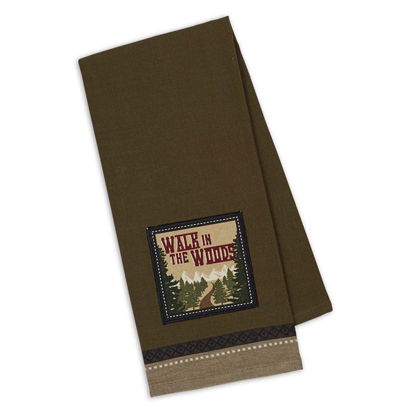 Wholesale - Walk in the Woods Embellished Dishtowel - DII Design Imports - 1