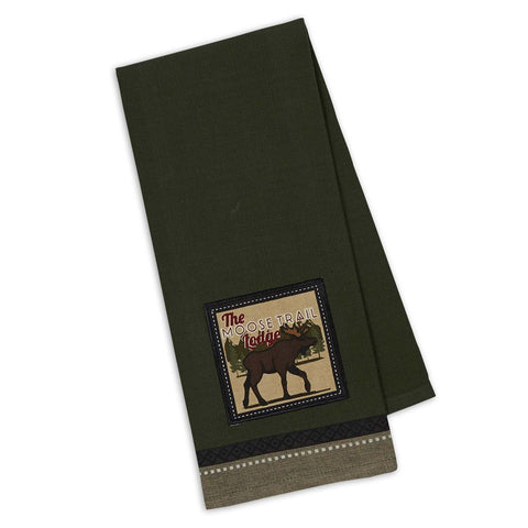 Wholesale - Moose Trail Embellished Dishtowel - DII Design Imports - 1