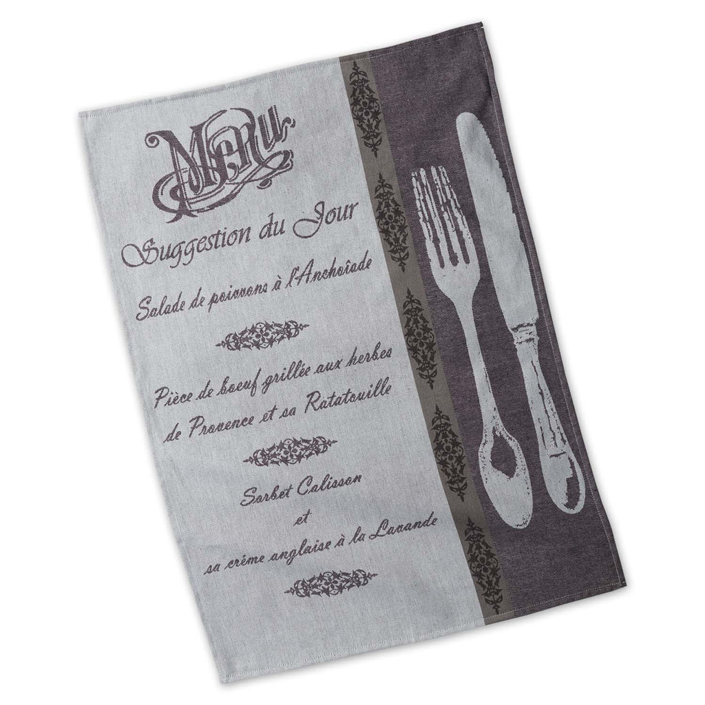 Wholesale Menu Jacquard Dishtowel - DII Design Imports